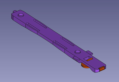 Replacement Chieftec disk rail, bottom view.