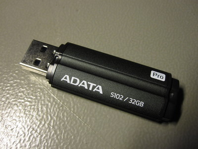 ADATA S102 Pro 32 GB flash drive.