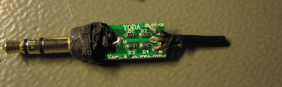 Circuit board inside the 3.5 mm plug handle, top side.