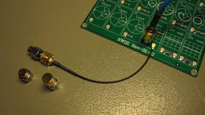 Setup for measuring the thru on Demo Kits.