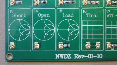 SOLT standards on the NWDZ RF Demo Kit.